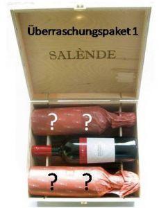 Überraschungspaket 1 mit 6 Flaschen aus Europa in Original-Holzkiste