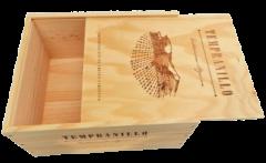 Salende Große Original Wein-Holzkiste mit Deckel Top-Zustand